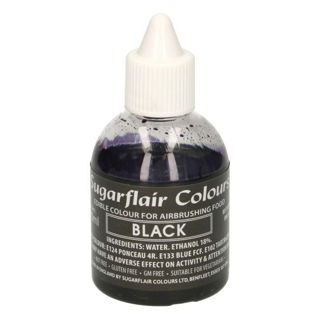 Sugarflair Airbrushfarge -Svart- 60ml
