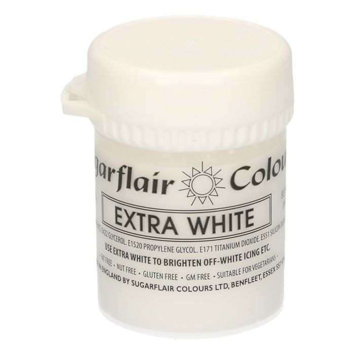 Sugarflair - Max Concentrate pastafarge White Extra, 42g