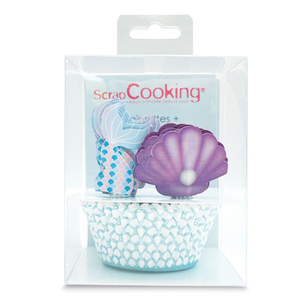 ScrapCooking - Havfrue muffinsformer og topper