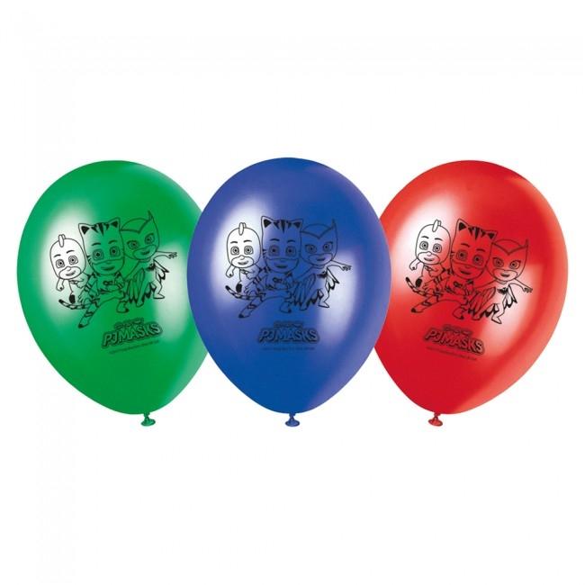 Pysjheltene ballonger med trykk, 8stk