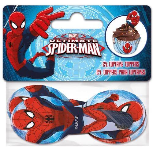 Cupcake figurpynt Spiderman 24stk