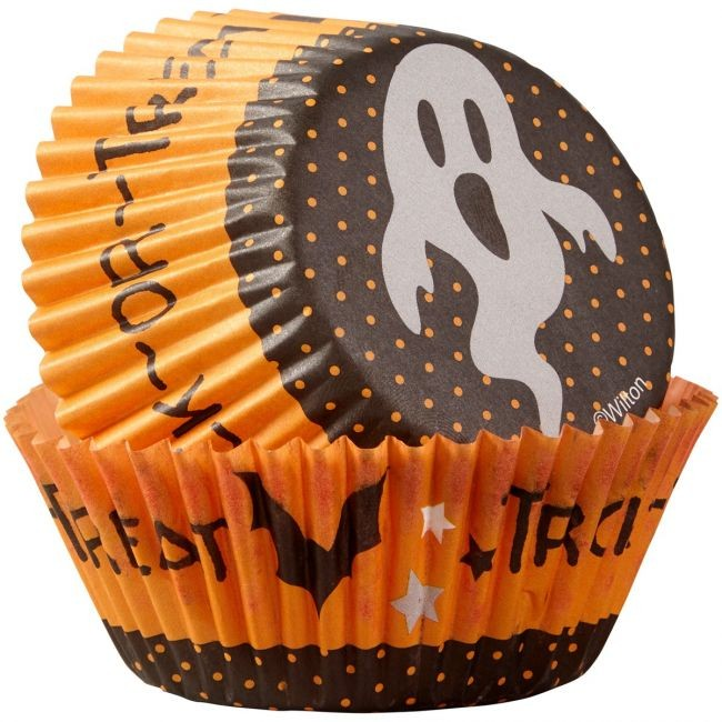 Wilton Muffinsformer Trick or Treat Spøkelse pk/75