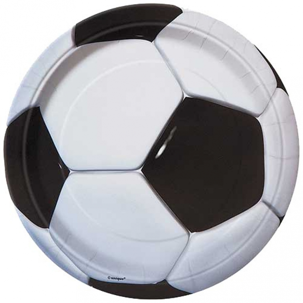 Fotball engangsfat 18cm 8stk