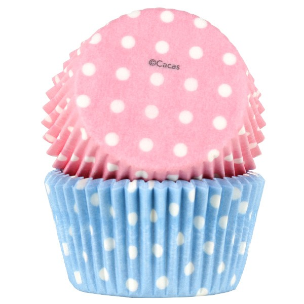 Muffinsform Pastell polka 50 stk, standard