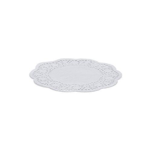 Kakeservietter, Runde, Hvite, 20cm, pk/12