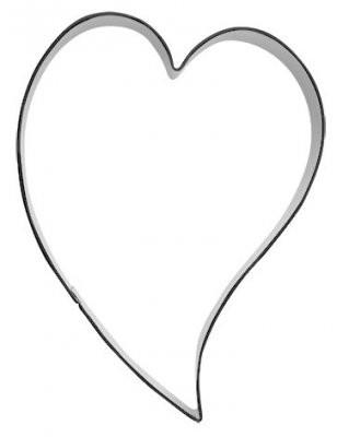 Pepperkakeform hjerte skjevt XL - 10 cm