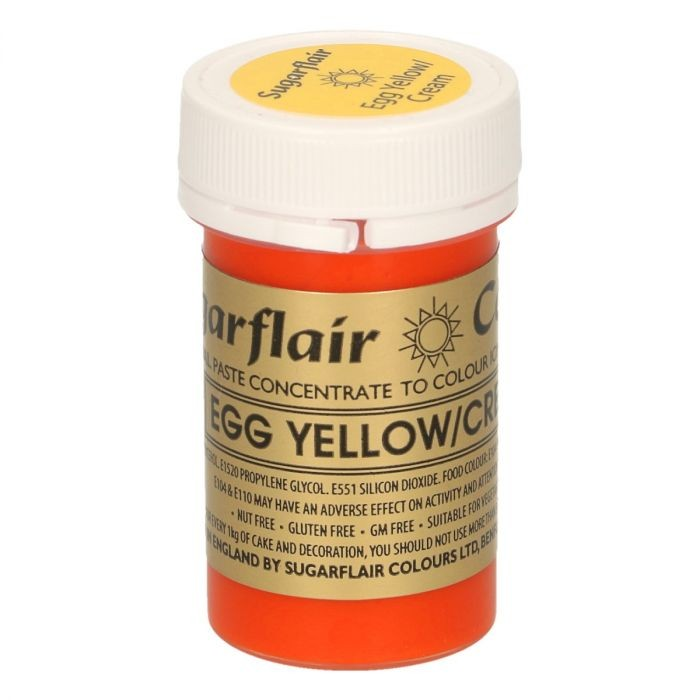 Sugarflair pastafarge Egg Yellow/Cream, 25g