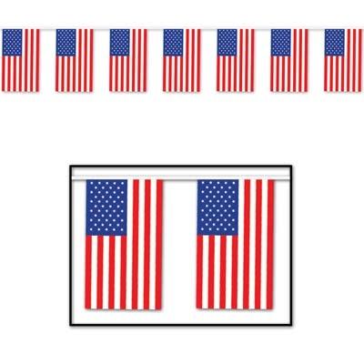Gigantiske utendørsflagg, USA, plast