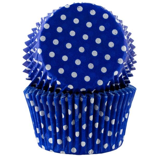 Muffinsform, Blå polka Jumbo 30 stk