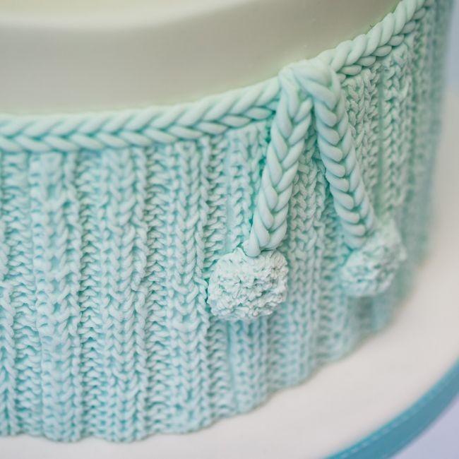 Karen Davies silikonform Sjarmerende strikkemønster