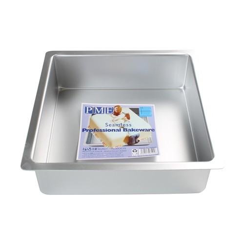 PME Dyp Firkantet kakeform -20x20x7.5cm-