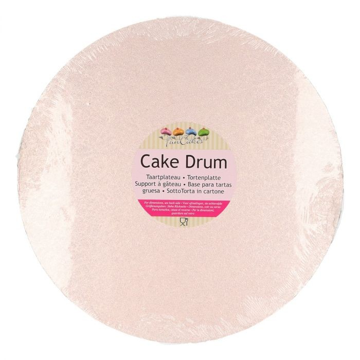Kake Drum Rund Rose Gull - 25cm