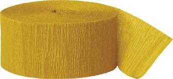 Crepe streamer rull, gullfarget