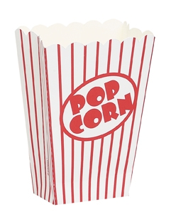 Popcornbeger Klassisk -liten- pk/8