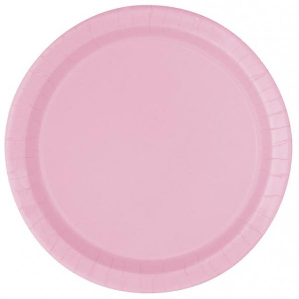 16 lyserosa engansfat, runde
