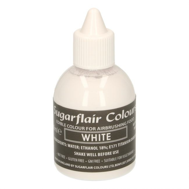 Sugarflair Airbrushfarge -Hvit- 60ml
