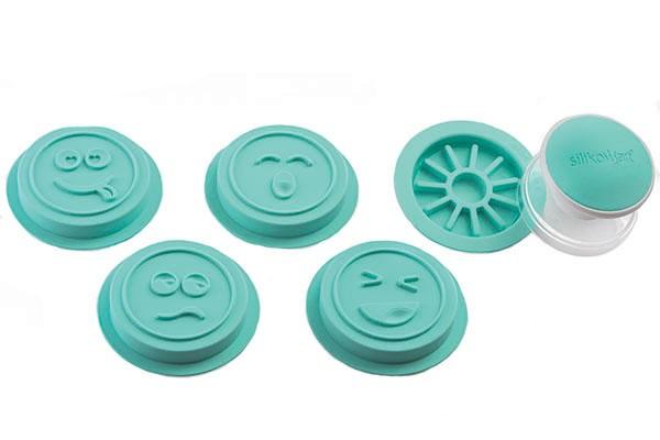 Silikomart Kjeksstempel -Emoji- pk/4