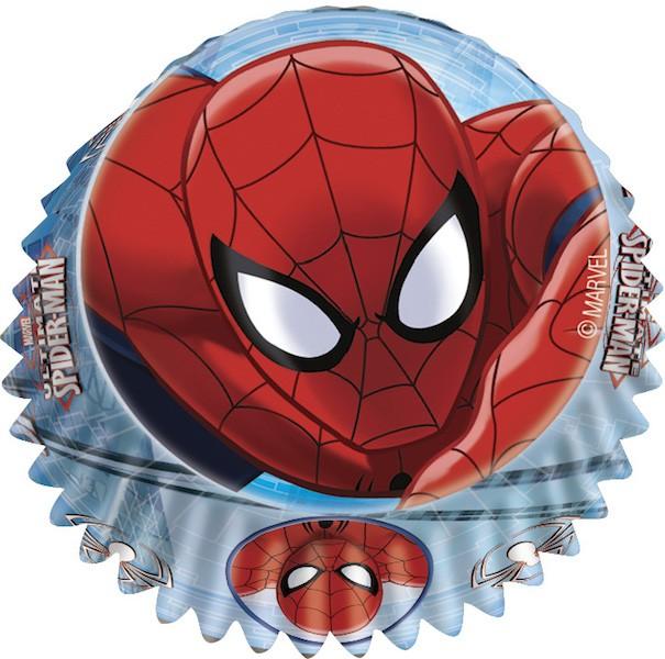 Muffinsform Spiderman, standard, 60stk