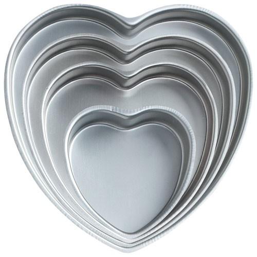 Kakeformer Hjerte, 4 stk fra Wilton