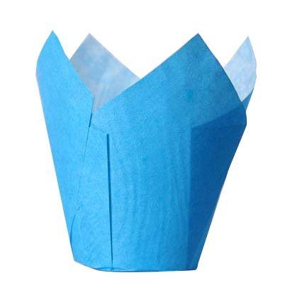 Blå muffinsform tulipan fra House of Marie pk/36