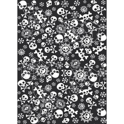 Plastduk -Hodeskalle og spindelvev- 130x180 cm