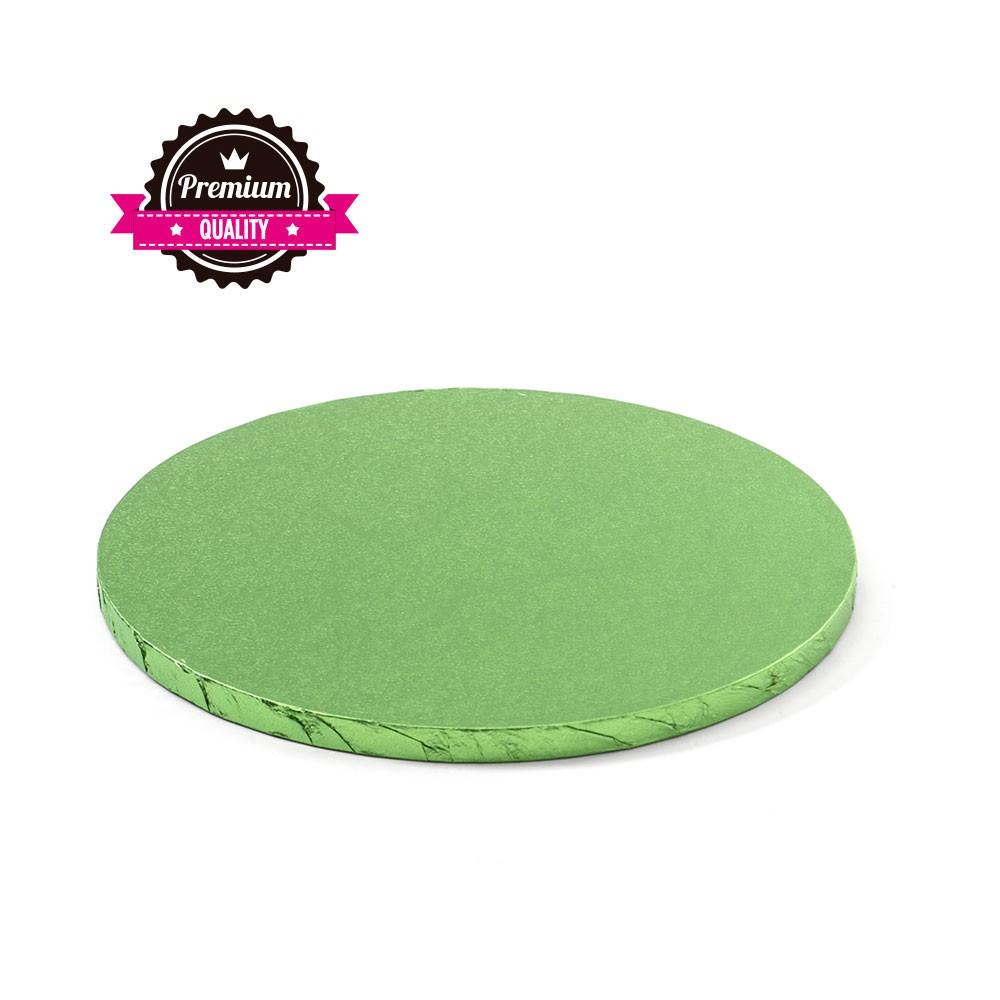 Kake Drum Rund Lys grønn  30cm
