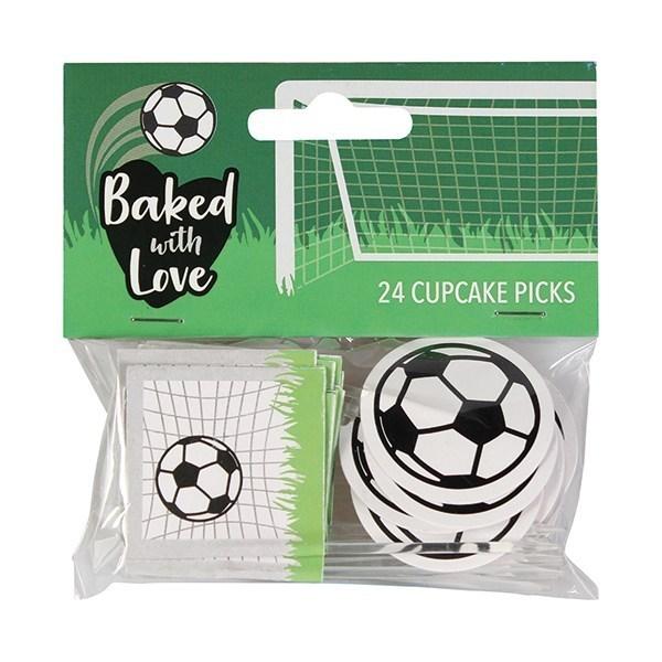 Dekorasjoner til Cupcakes - Fotball pk/24