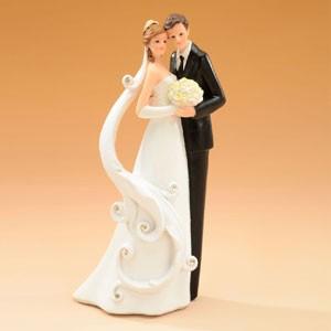 Kaketopp bryllup - Romantisk brudepar