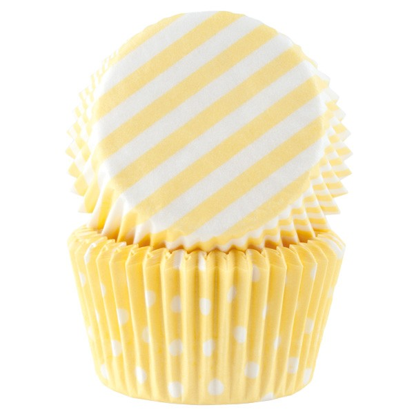 Muffinsform Pastellgul ,Standard, 50stk
