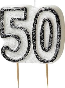 Kakelys formet som 50-tall, svart og glitrende