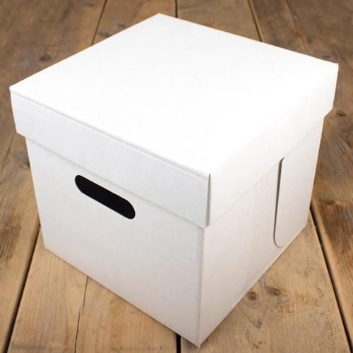 FunCakes solid kakeeske - Hvit 25.5x25.5x25cm