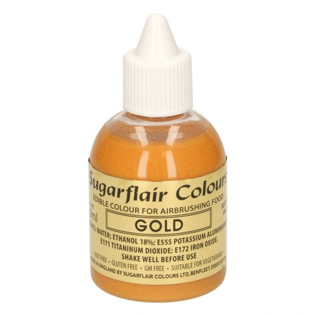 Sugarflair Airbrushfarge -Gull- 60ml