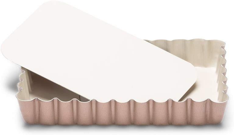Patisse Liten paiform i kobberfarge med løs bunn, 13x8cm