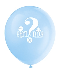 Babyshower gutt/jente 8 stk ballonger