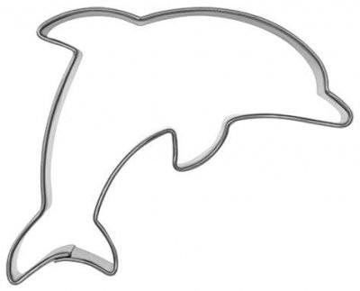 Pepperkakeform delfin liten - 7 cm