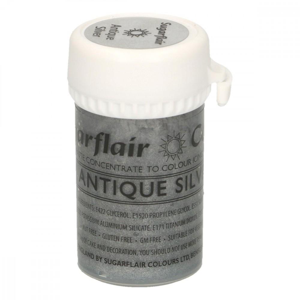 Sugarflair pastafarge Satin Antique Silver 25g