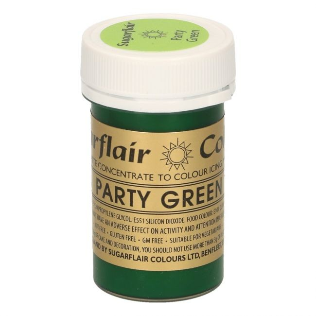 Sugarflair pastafarge Party Green, 25g