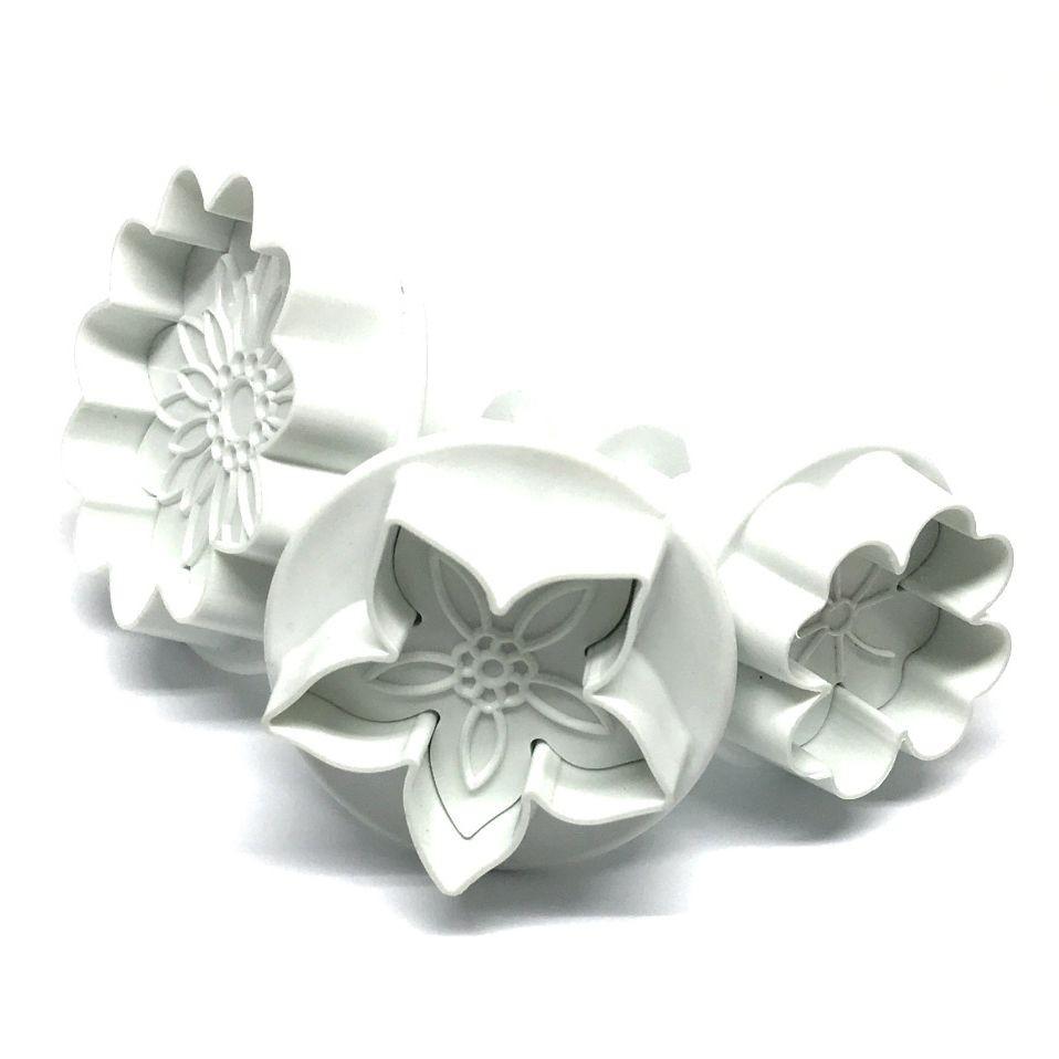 Dekofee Utstikkere med stempel - Blomster set/3
