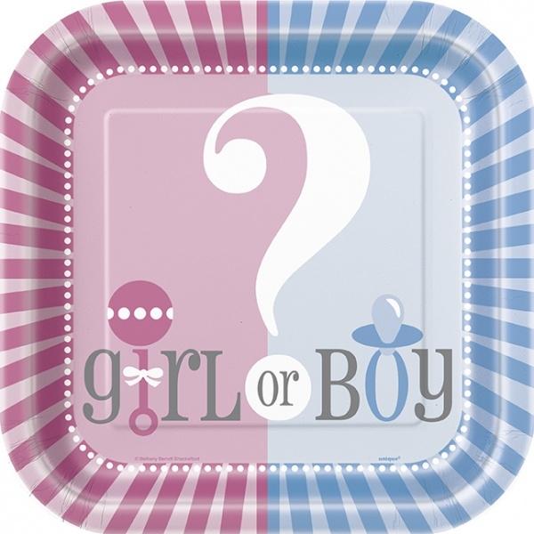Babyshower gutt/jente 8stk engangsfat