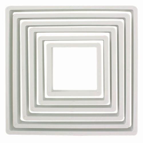 PME Ustikkersett i plast -Kvadrat- 6 stk