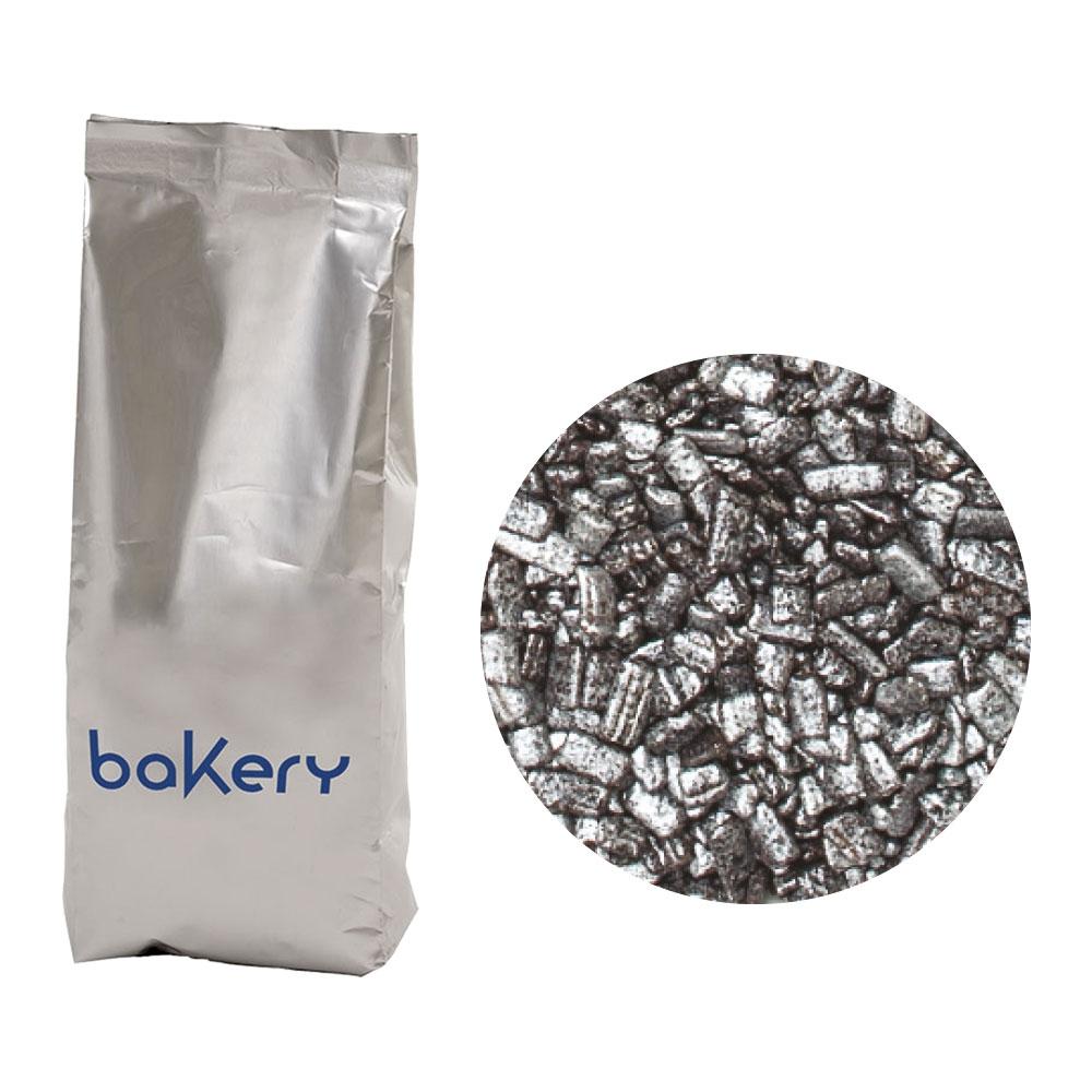 Sjokoladebiter med sølvfarge, 1kg