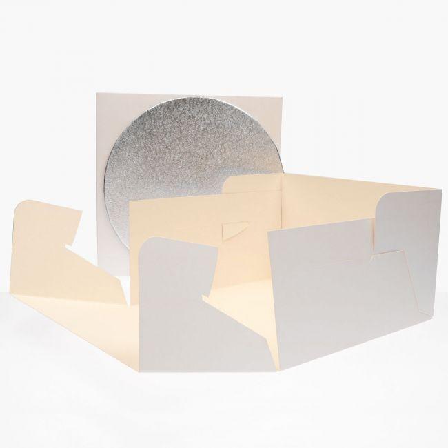 FunCakes Kakeeske og rundt brett (3mm) 25x25x15cm