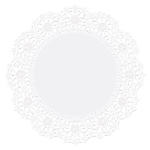 Wilton Hvite brikker/underlag 25cm, pk/10