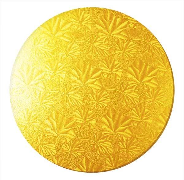 Kakebrett rundt, 2pk, Gull 30cm