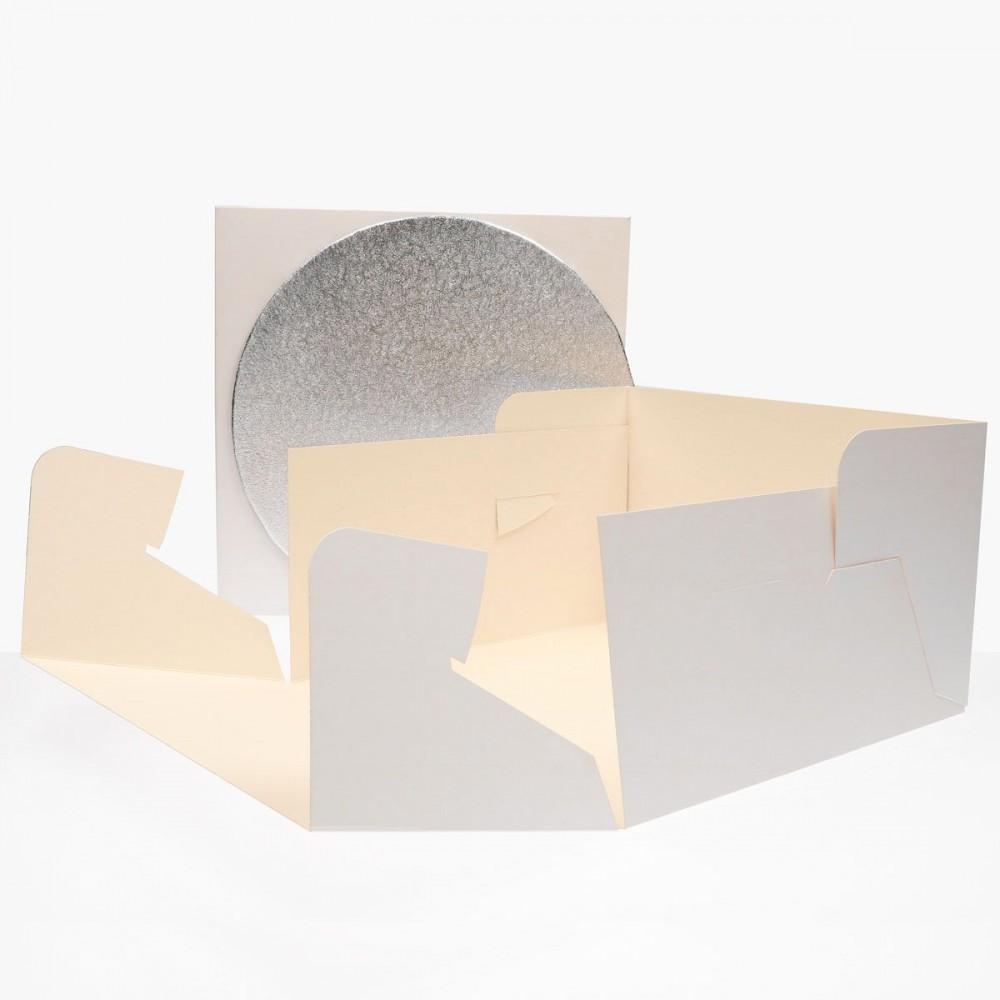 FunCakes Kakeeske og rundt brett (3mm) 30x30x15cm