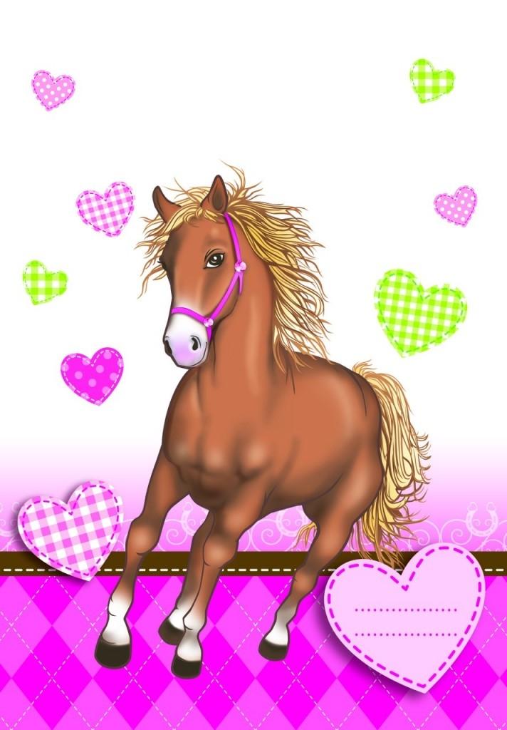 Hest rosa godteposer, 6 stk