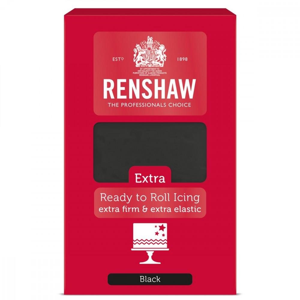 Svart fondant fra Renshaw, 1kg