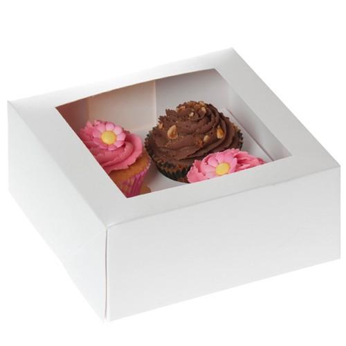 House of Marie Cupcake Boks 4 -Hvit- pk/2