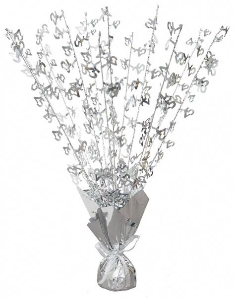Bordpynt, sølvfarget med 25-tall, tung fot