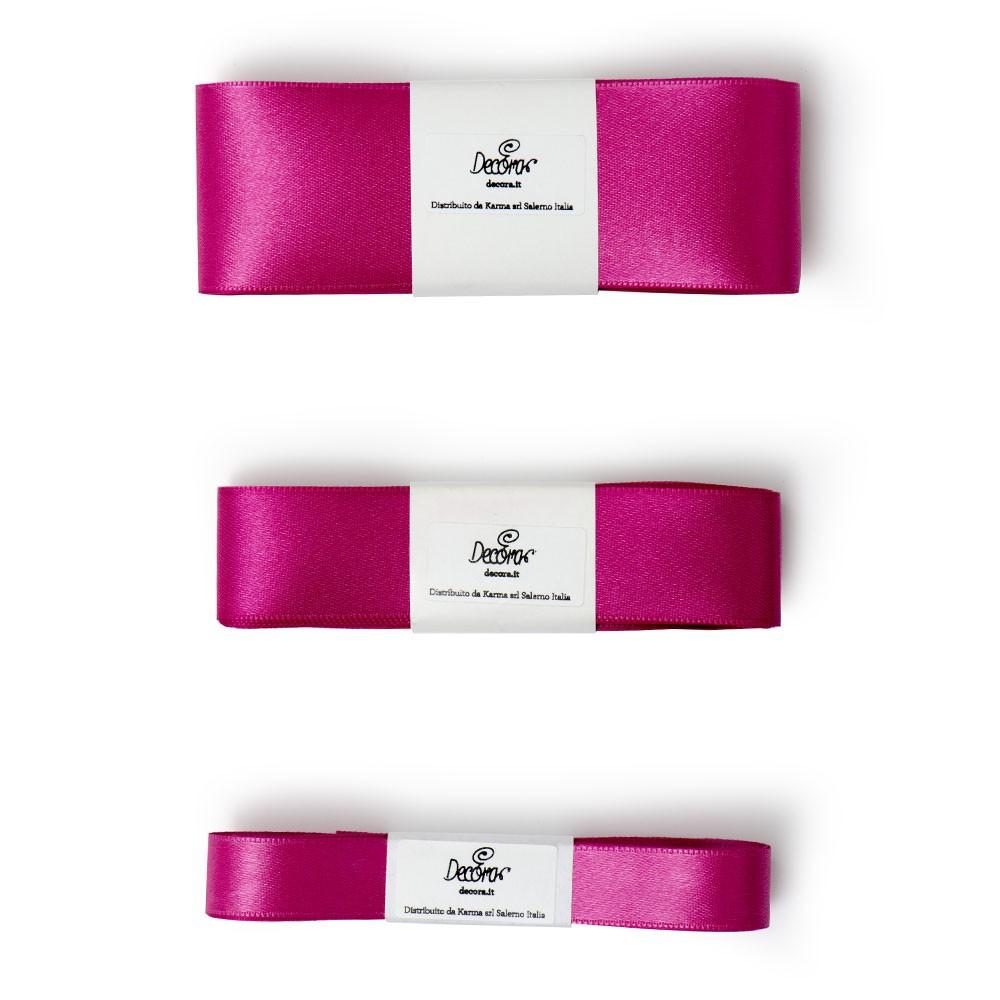 Satengbånd, Fuchsia rosa -15mm- 5m